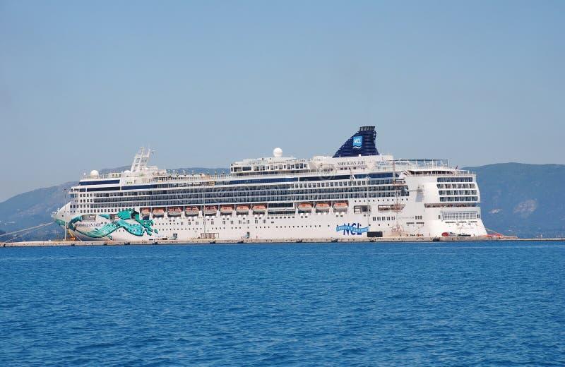 Norwegian Jade, Corfu royalty free stock photo