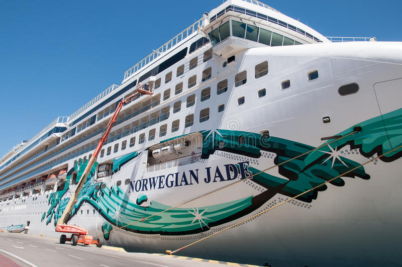 Norwegian Jade cruise ship in Piraeus royalty free stock photos