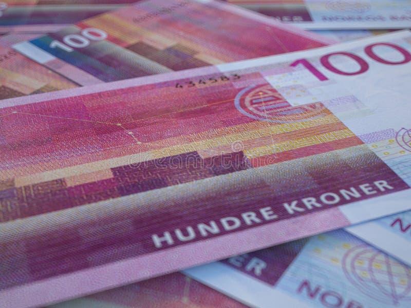 Norwegian krone. Money of Norway. Closeup photo. Oslo. NOK stock images