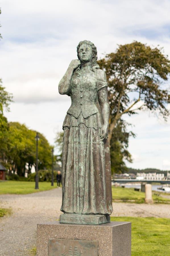 Norwegian Lady Statues stock photos