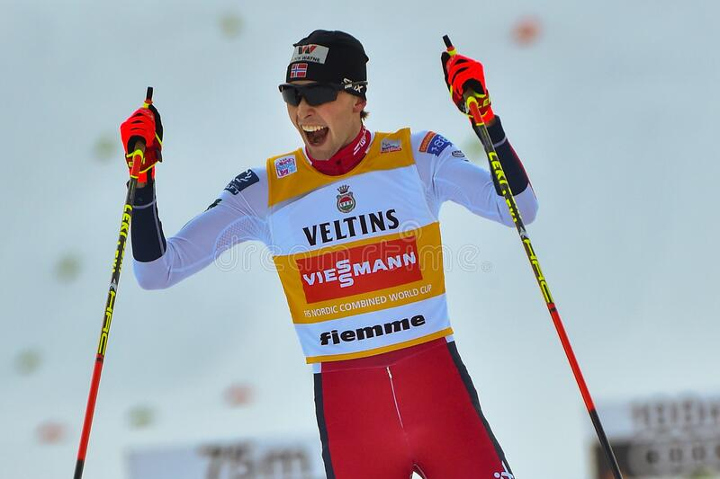 Nordic Ski FIS World Cup 2020 - Nordic Combined stock photo
