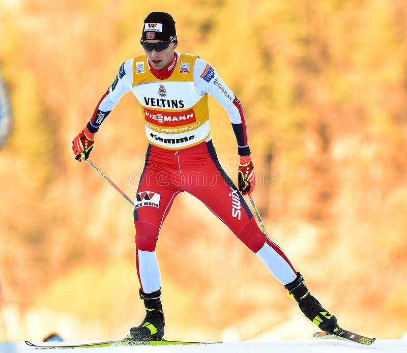 Nordic Ski FIS World Cup 2020 - Nordic Combined stock image