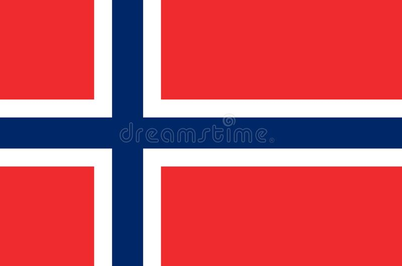 Norwegian national flag, official flag of norway accurate colors vector illustration