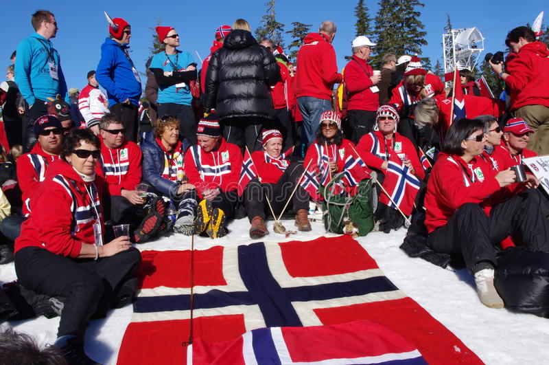 Norwegian Spectators stock images