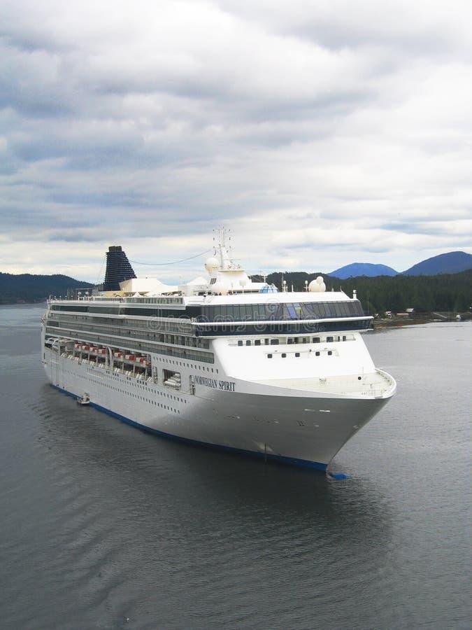 Norwegian Spirit Cruise Ship in Ketchikan harbor, Alaska royalty free stock image