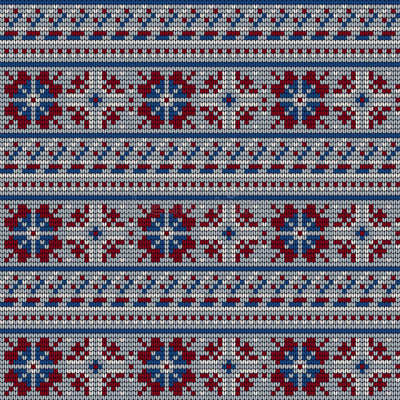 Download Norwegian Star Knitting Pattern Stock Illustration - Image: 83722533