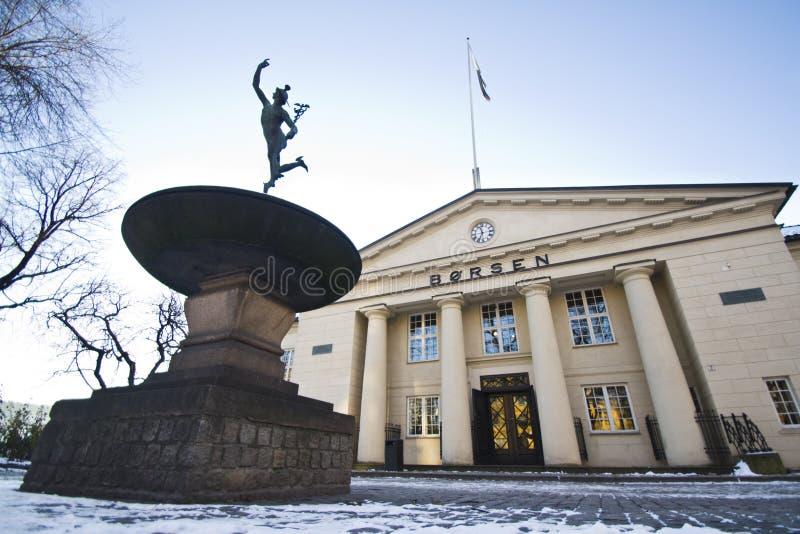 Norwegian Stock Exchange winter stock photos