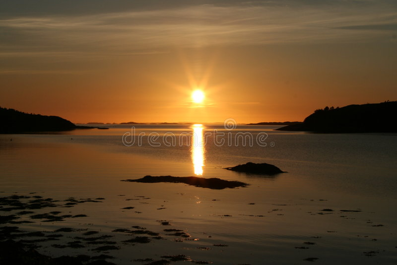 Norwegian sunset royalty free stock images
