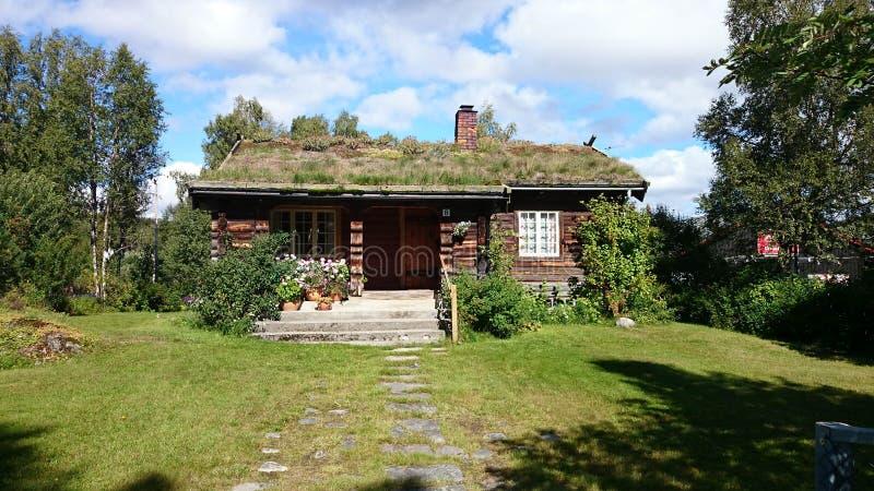 Norwegian telemark cottage royalty free stock photography