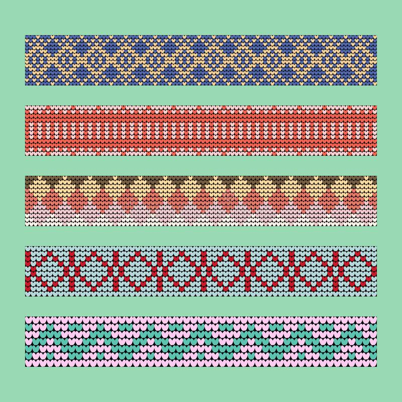 Norwegian traditional ornament. Borders with geometric ornament. royalty free stock photography