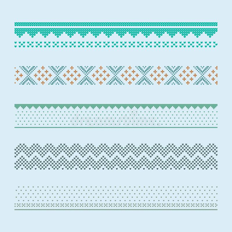 Norwegian traditional ornament. Borders with geometric ornament. stock photography