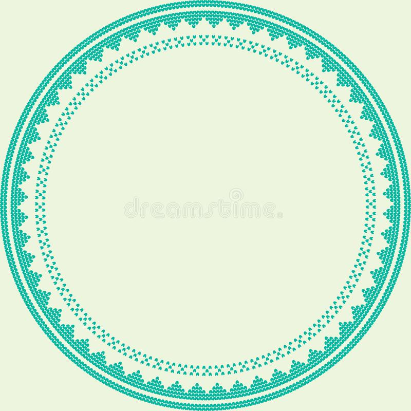 Norwegian traditional ornament. Round frame with geometric ornament. Knitting Pattern. stock photography