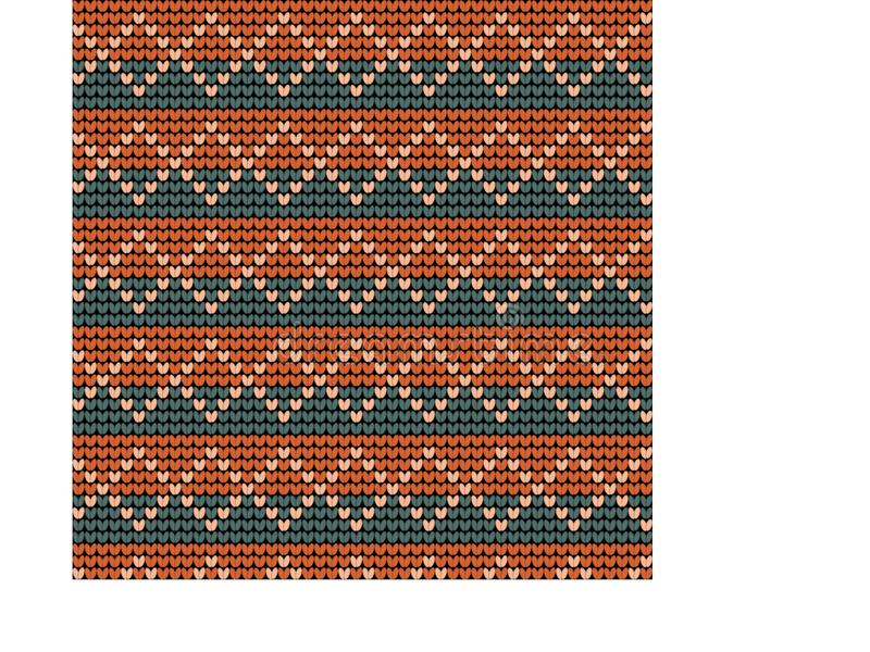 Norwegian traditional ornament. Seamless pattern with geometric ornament. Knitting Pattern. stock photo