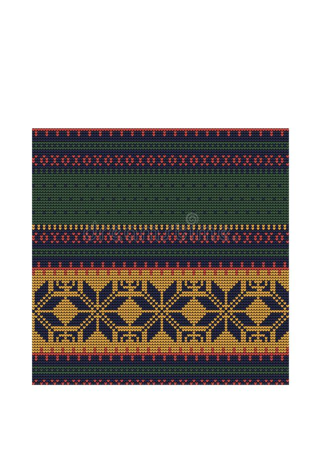 Norwegian traditional ornament. Seamless pattern with geometric ornament. Knitting Pattern. royalty free stock photography