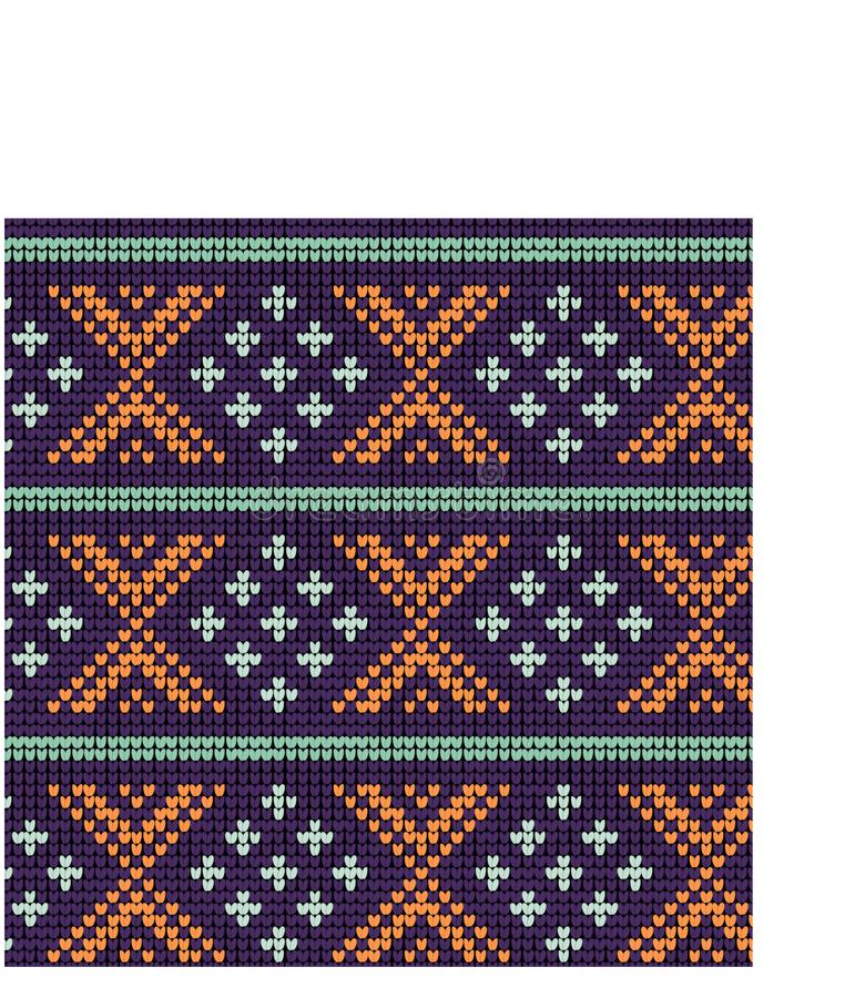 Norwegian traditional ornament. Seamless pattern with geometric ornament. Knitting Pattern. royalty free stock photo
