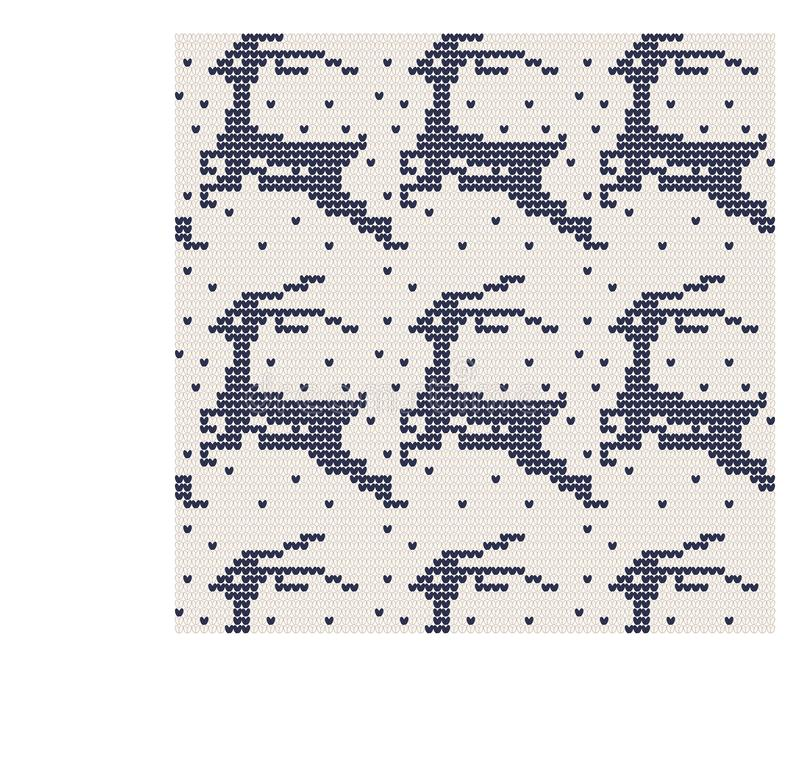 Norwegian traditional ornament. Seamless pattern with zoomorphic ornament. Knitting Pattern. stock photography