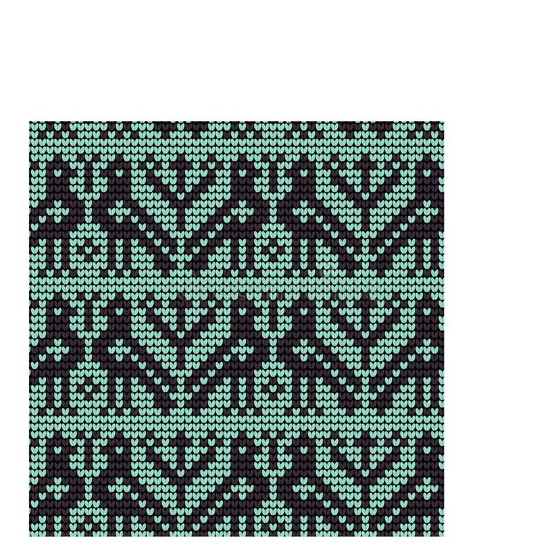 Norwegian traditional ornament. Seamless pattern with zoomorphic ornament. Knitting Pattern stock photography