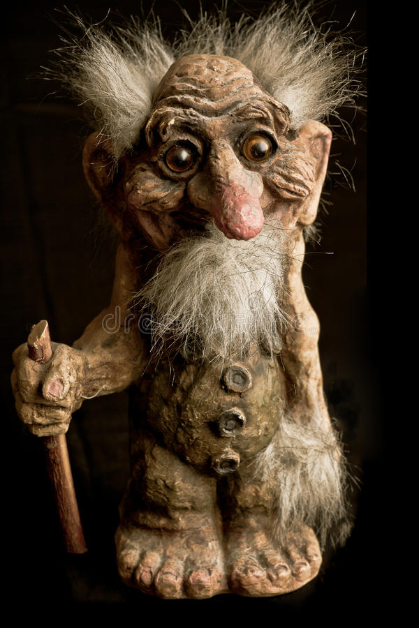 The norwegian Troll. The characteristic norwegian troll of the legend royalty free stock image