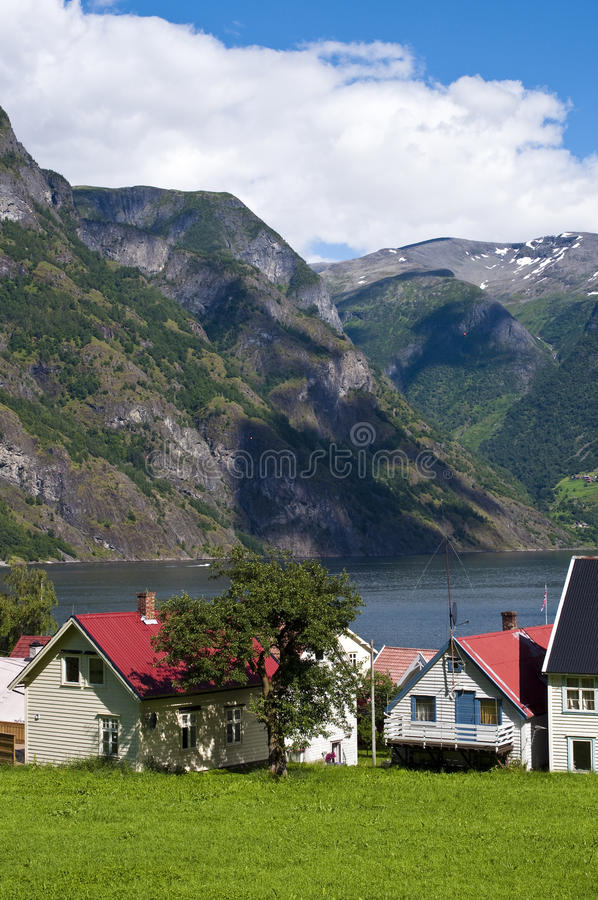 Norwegian Village Stock Photo