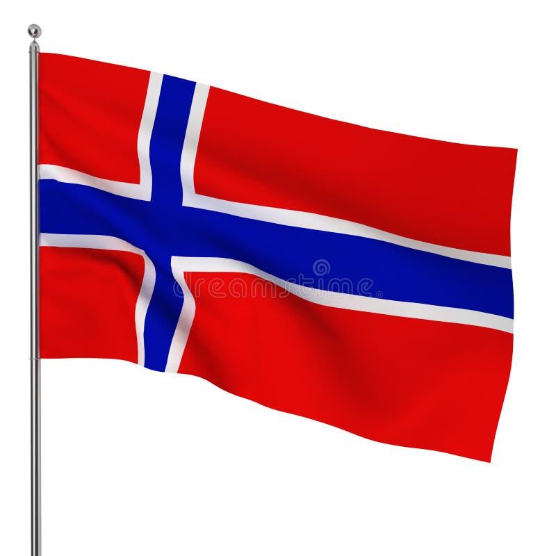 Norwegische Flagge lizenzfreie abbildung