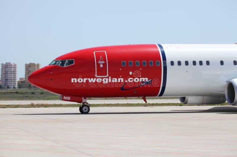 Norwegische Fluglinien lizenzfreie stockfotografie