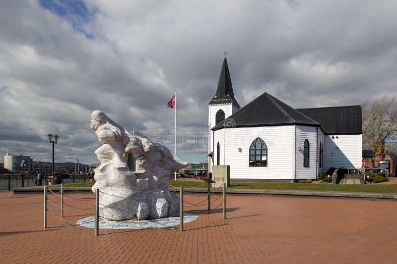 Norwegische Kirchen-Kunst-Mitte Cardiff stockfotografie