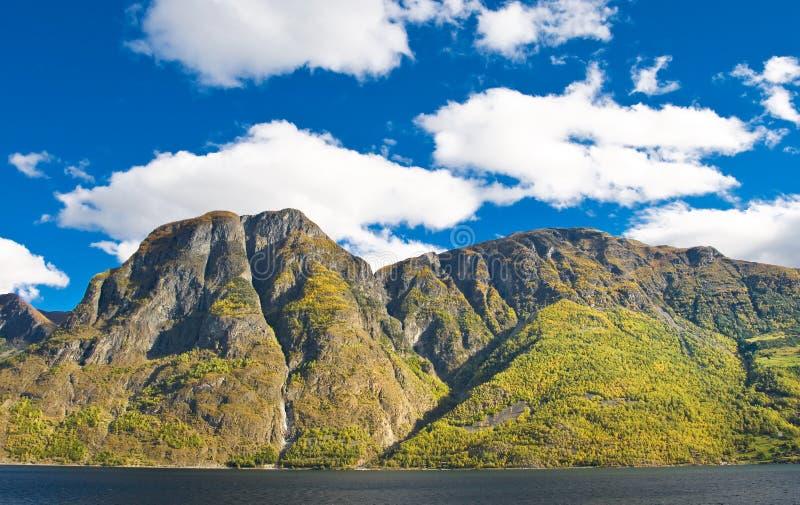 Norwegische Landschaften. Fjorde, Berge stockbilder