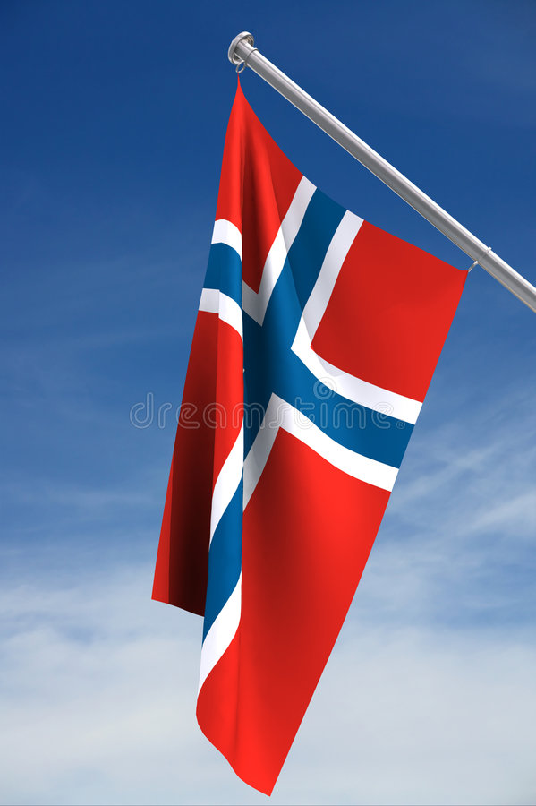 Norwegische Markierungsfahne vektor abbildung