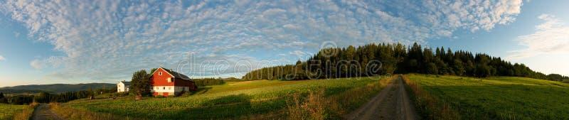 Norwegischer Bauernhof stockfoto