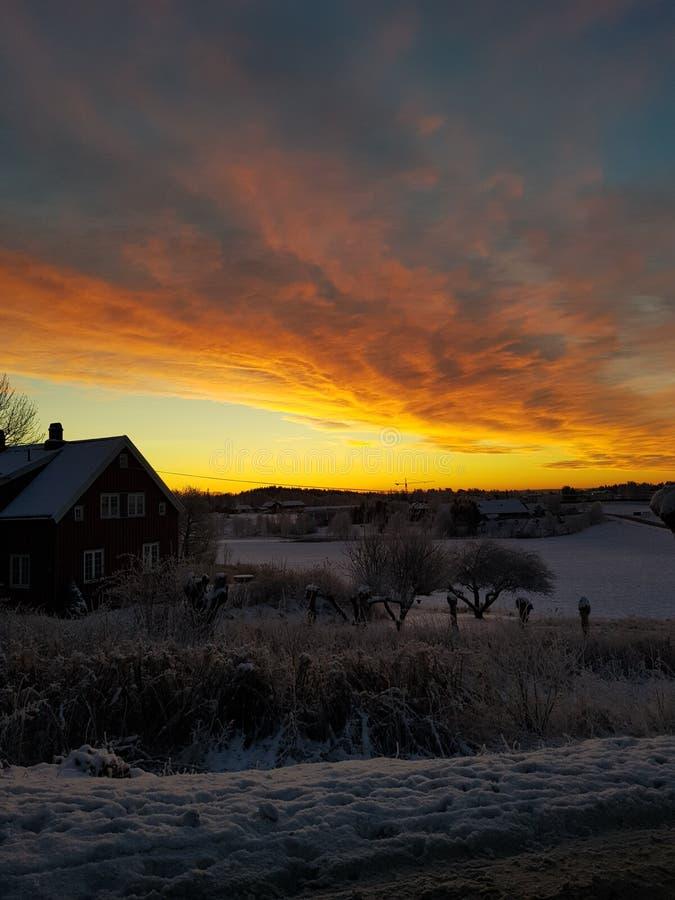 Norwegischer Winter lizenzfreies stockfoto