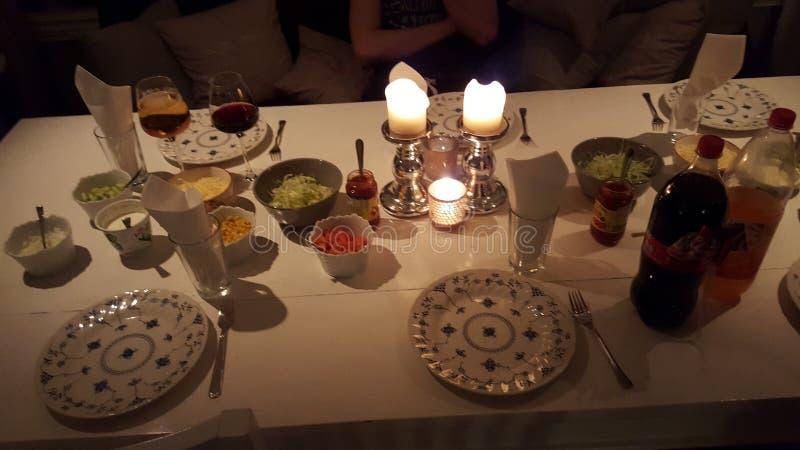 Norwegisches Abendessen stockbild