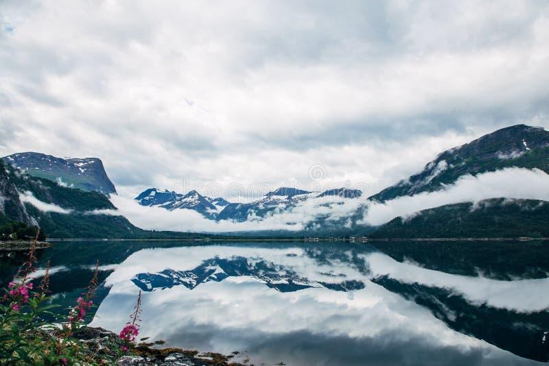 Norwegu lustro zdjęcie royalty free