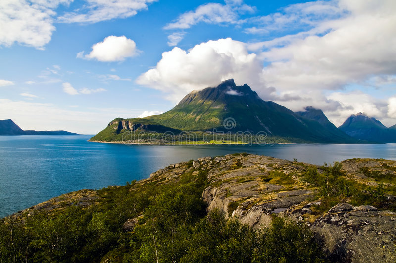 norweigian的海湾 免版税库存图片