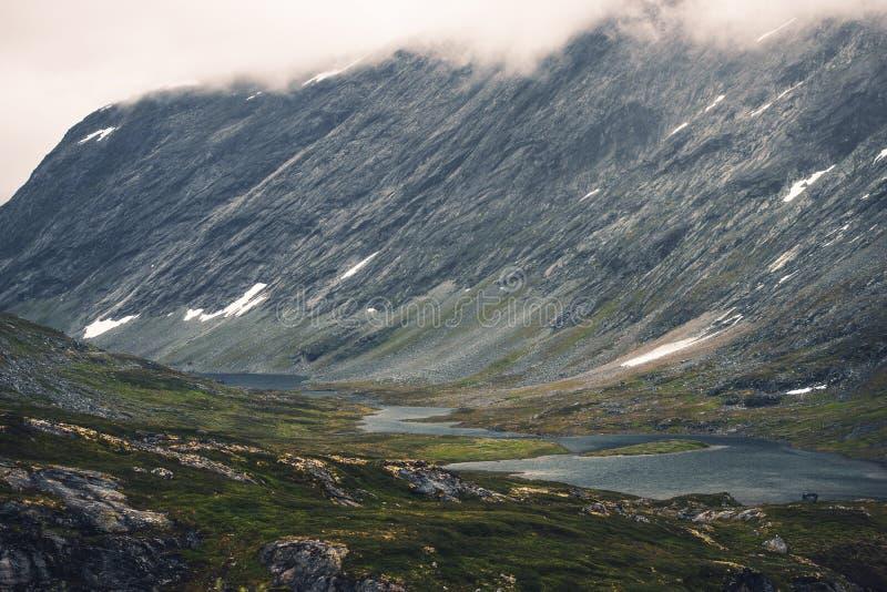 Norweska Halna dolina zdjęcie stock