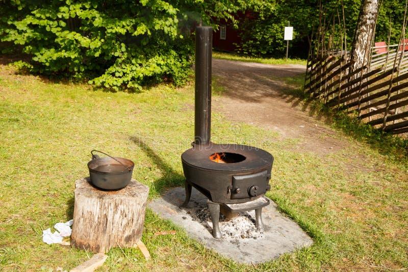 Norweska rocznik kuchenka zdjęcia stock