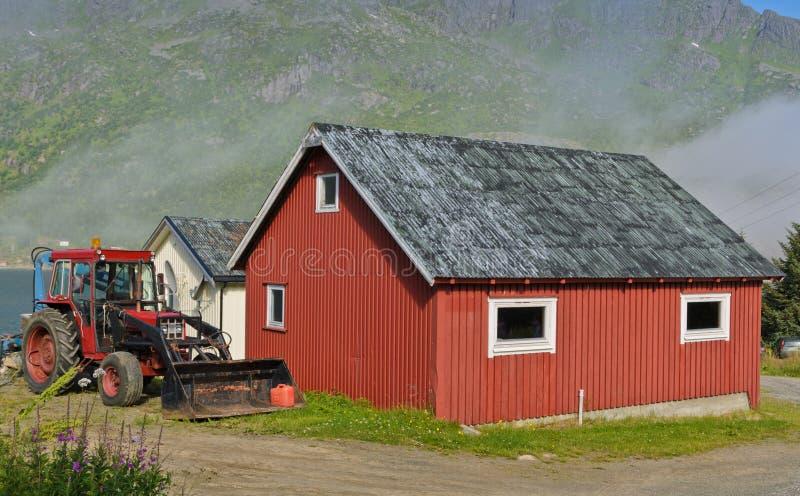 Norweski dom na wsi zdjęcia stock