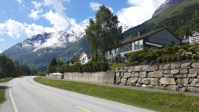 Norweski droga krajobraz obraz stock