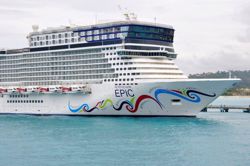 Norweski EPICKI statek wycieczkowy zdjęcia stock