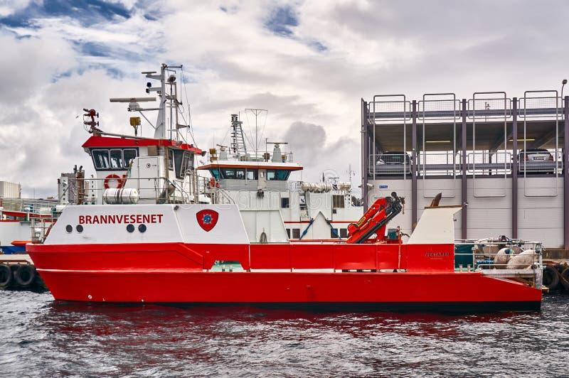 Norweski fireboat zdjęcie royalty free