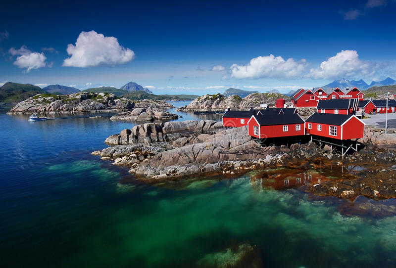 Norweski Fjord obraz royalty free
