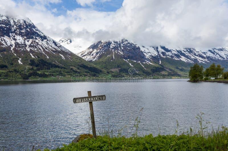 Norweski fjord obrazy royalty free