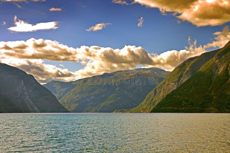 Norweski Fjord widok obrazy royalty free