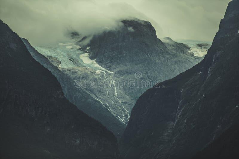 Norweski lodowiec Vista fotografia stock