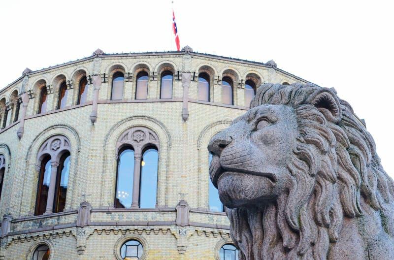 Norweski parlament obrazy stock