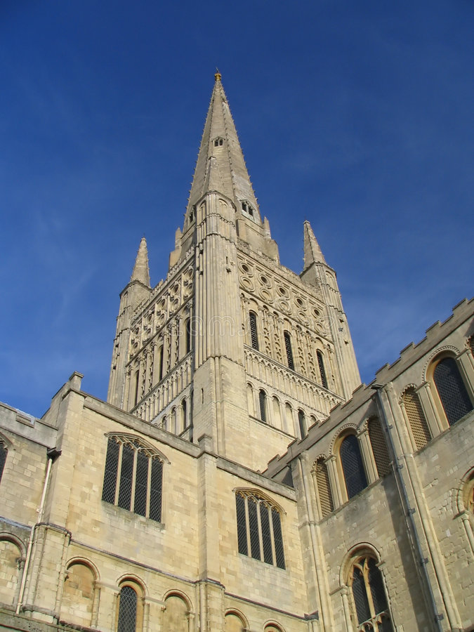 Free Norwich Cathedral Spire Royalty Free Stock Image - 620306
