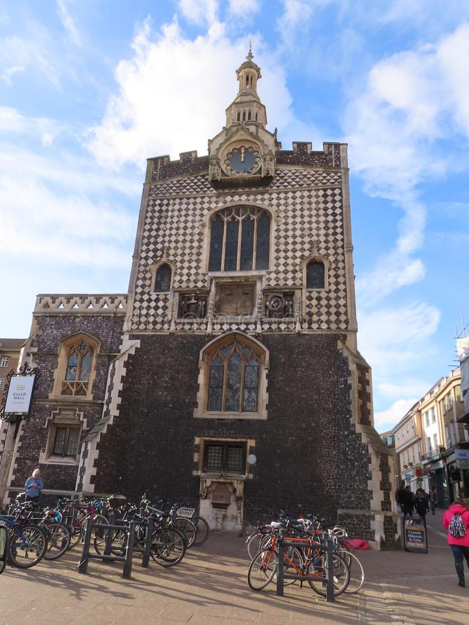 Norwich Guildhall. Is a historic listed building on Gaol Hill in the city of Norwich, United Kingdom. It was constructed between 1407 and 1413 and served as the royalty free stock images