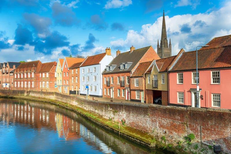 Norwich i Norfolk fotografering för bildbyråer