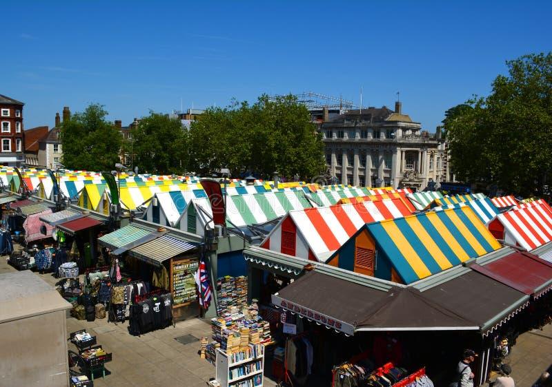 Norwich marknad arkivbild