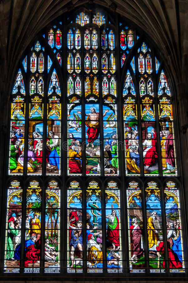 Free NORWICH, NORFOLK/UK - APRIL 24 : Stained Glass Window In The Cat Royalty Free Stock Photos - 73043898