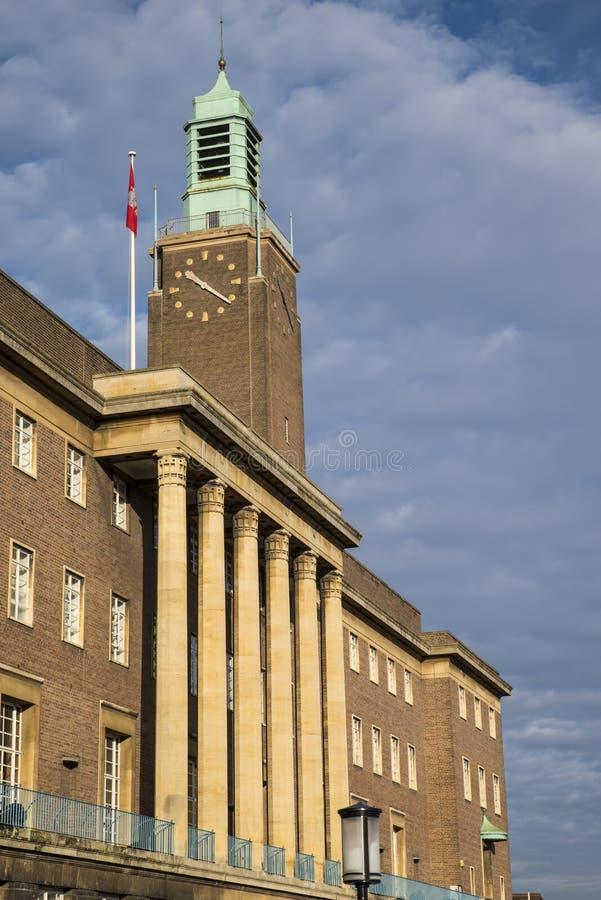 Norwich urząd miasta obrazy royalty free